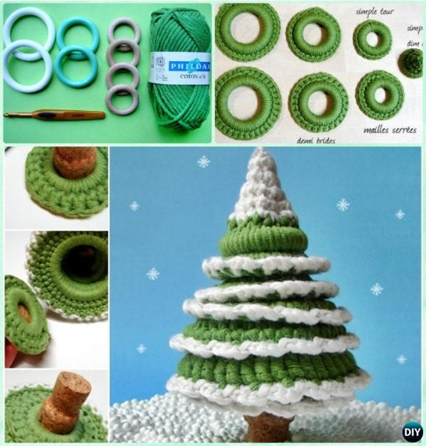 Crochet Ring Christmas Tree Free Pattern Instruction - Crochet Christmas Tree Free Patterns