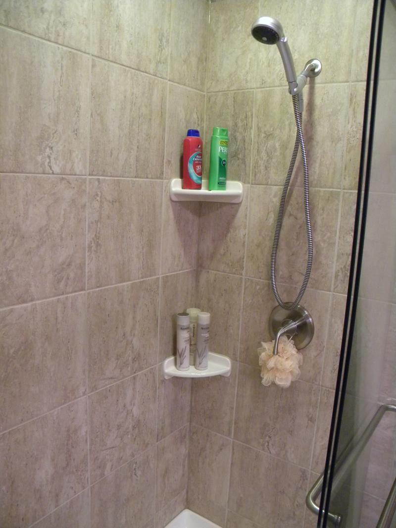 Canvas of Simple Shampoo Rack for Shower | Bathroom Design ...