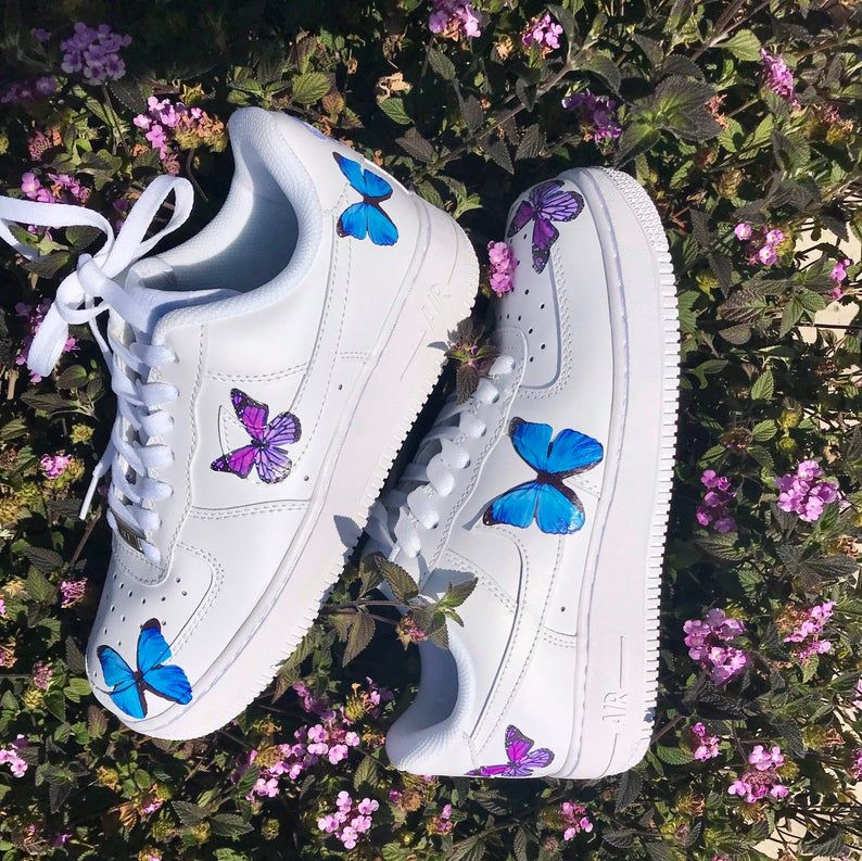 Nike Air Force 1 Butterfly Sky Etsy in 2020 Nike air