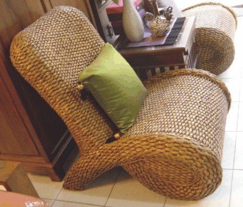 Water Hyacinth Chairs Indoor Wicker, Water Hyacinth Furniture