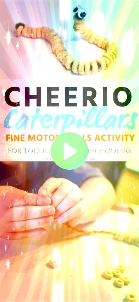 Caterpillars Fine Motor Skills Activity For Toddlers and Preschoolers Cheerio Caterpillars Fine Motor Skills Activity For Toddlers and Preschoolers Cheerio Caterpillars F...