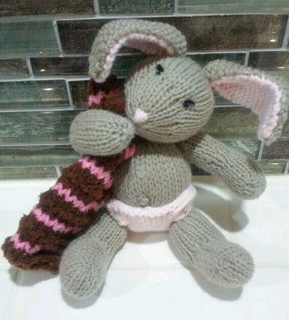 Knitted baby bunny with blanket (debbie bliss pattern ...