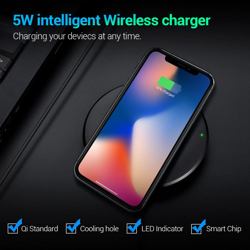 Floveme Qi Wireless Charger Wireless Charger Samsung Galaxy Phone Case Monogram