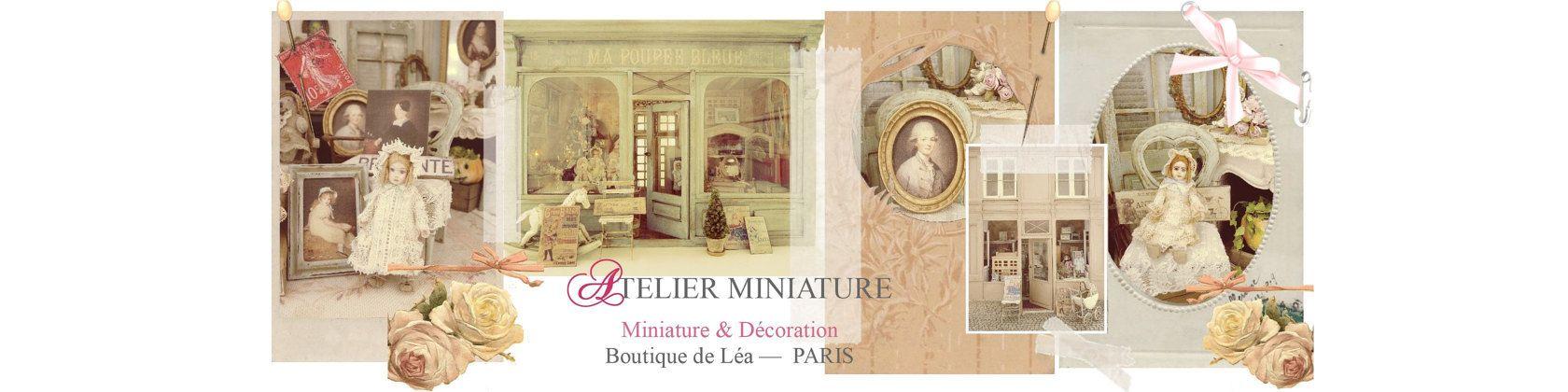 Boutique de Léa Miniature House French by AtelierMiniature