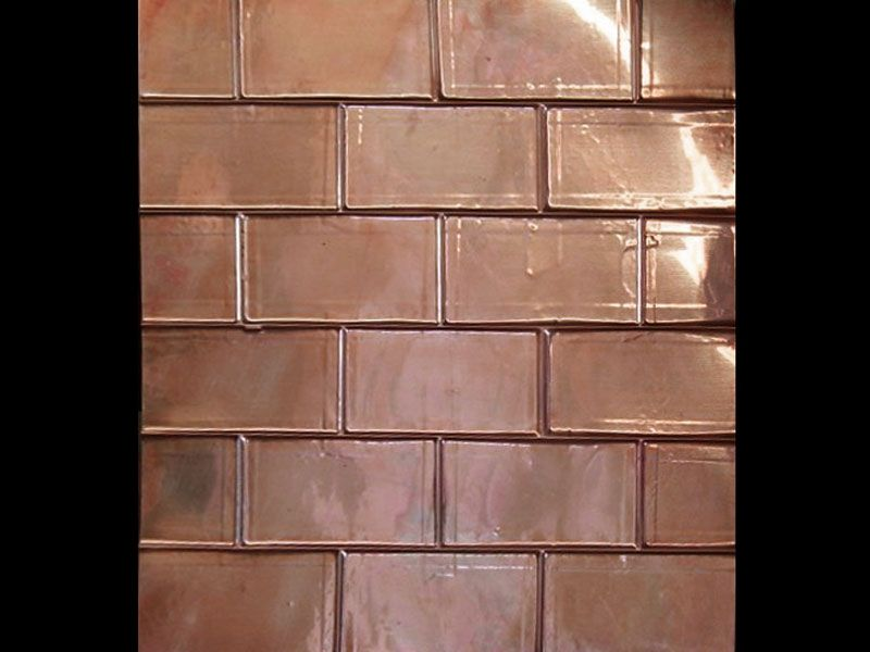 Copper Backsplash I Actually Want This In The Bathroom It Would Go Nicely With
