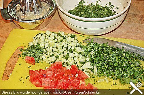 Petersiliensalat auf arabisch