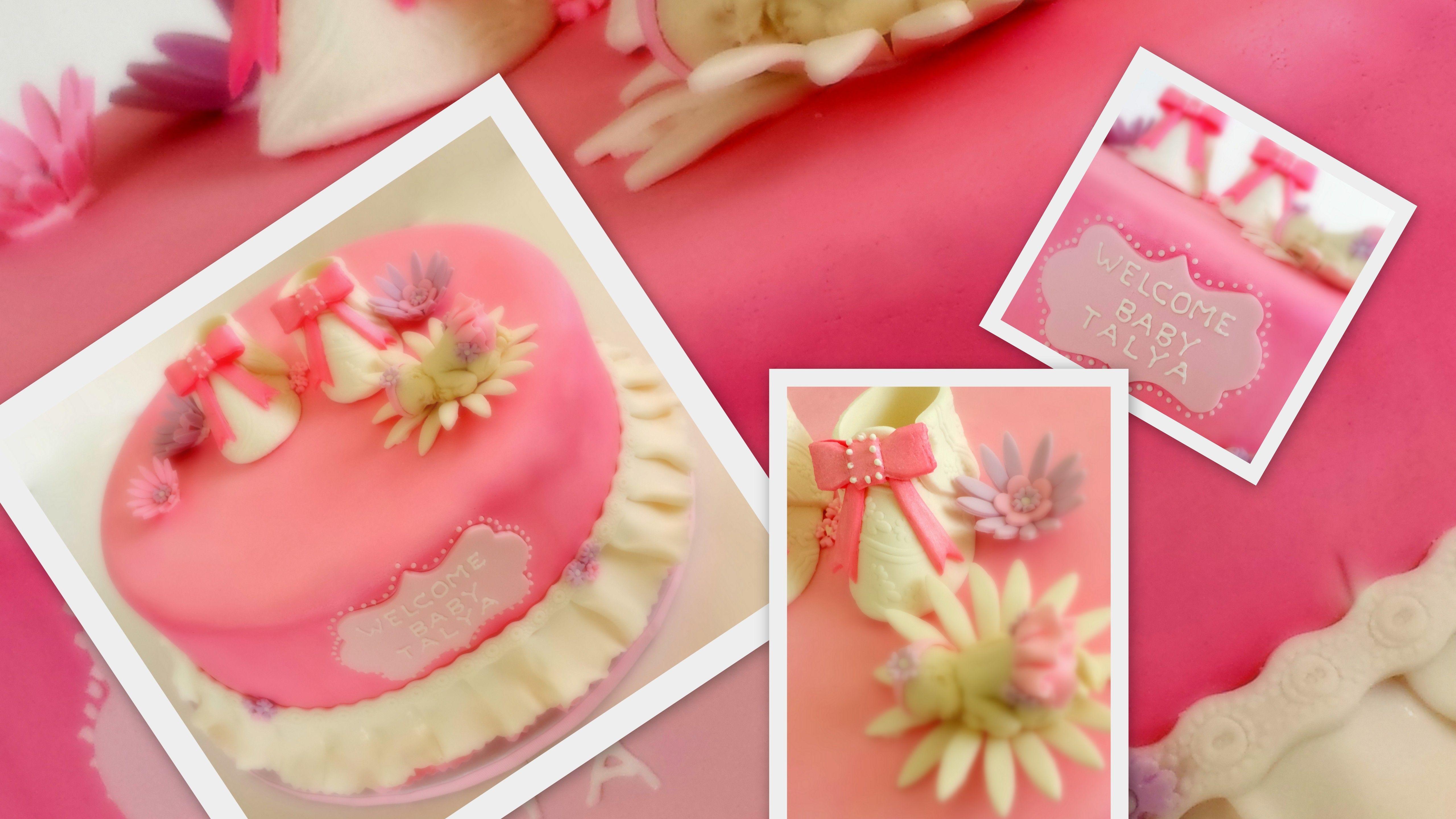 Baby girl cake home sweet talya cake baby