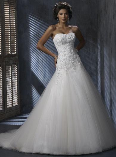 A Line Silhouette Corset Wedding Gown Drop Waist A Little Bit Too