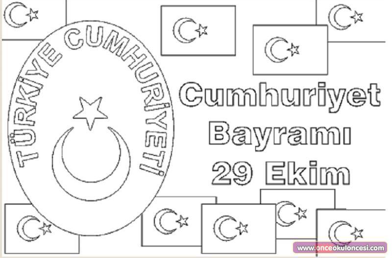 29 Ekim Cumhuriyet Bayrami Resmi Boyama Bahattinteymuriom