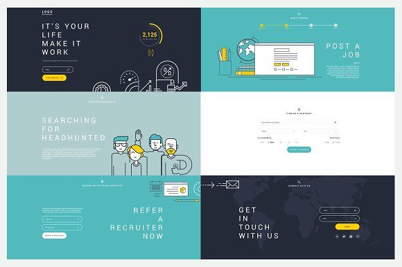 Simple Landing Page Template By Lorelai On Creativemarket Web - Simple landing page template