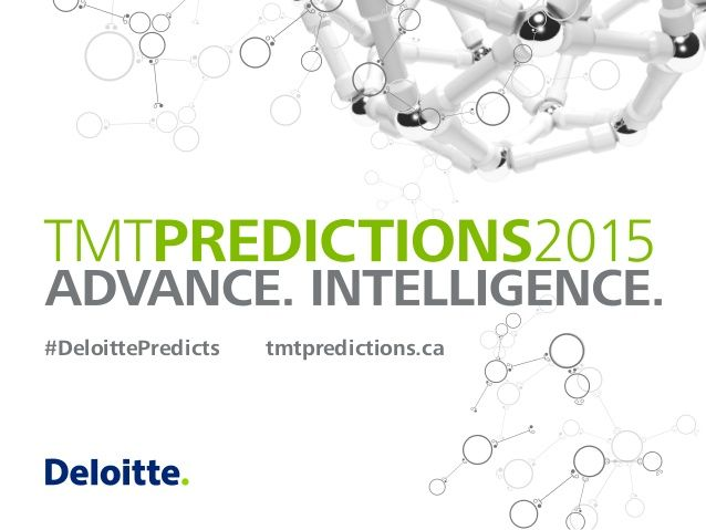 Do you agree with Deloitte's Technology Predictions for 2015? Is this how rech tech will progress?