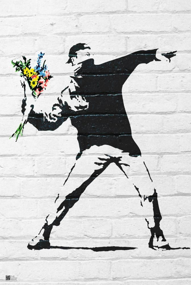 Flower Bomber Prints by Banksy at AllPosters.com