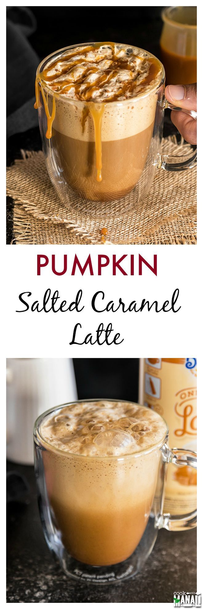 Pumpkin Salted Caramel Latte Made With Real Pumpkin And
