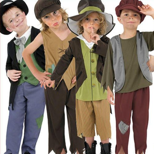 Dickensian Boy Costume Artful Dodger Fancy Dress Oliver Twist Book Day Outfit