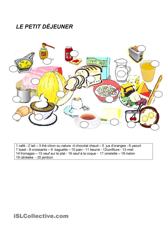 Le petit dĩjeuner la nourriture Pinterest