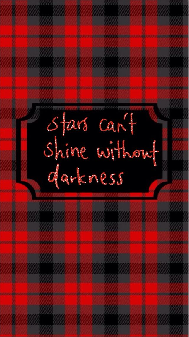 Stars Can T Shine Without Darkness Red Plaid Iphone Wallpaper Sparkle Wallpaper Dark Red Wallpaper Tartan Wallpaper