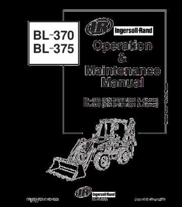 Bobcat bl370, bl375 backhoe loader operation and