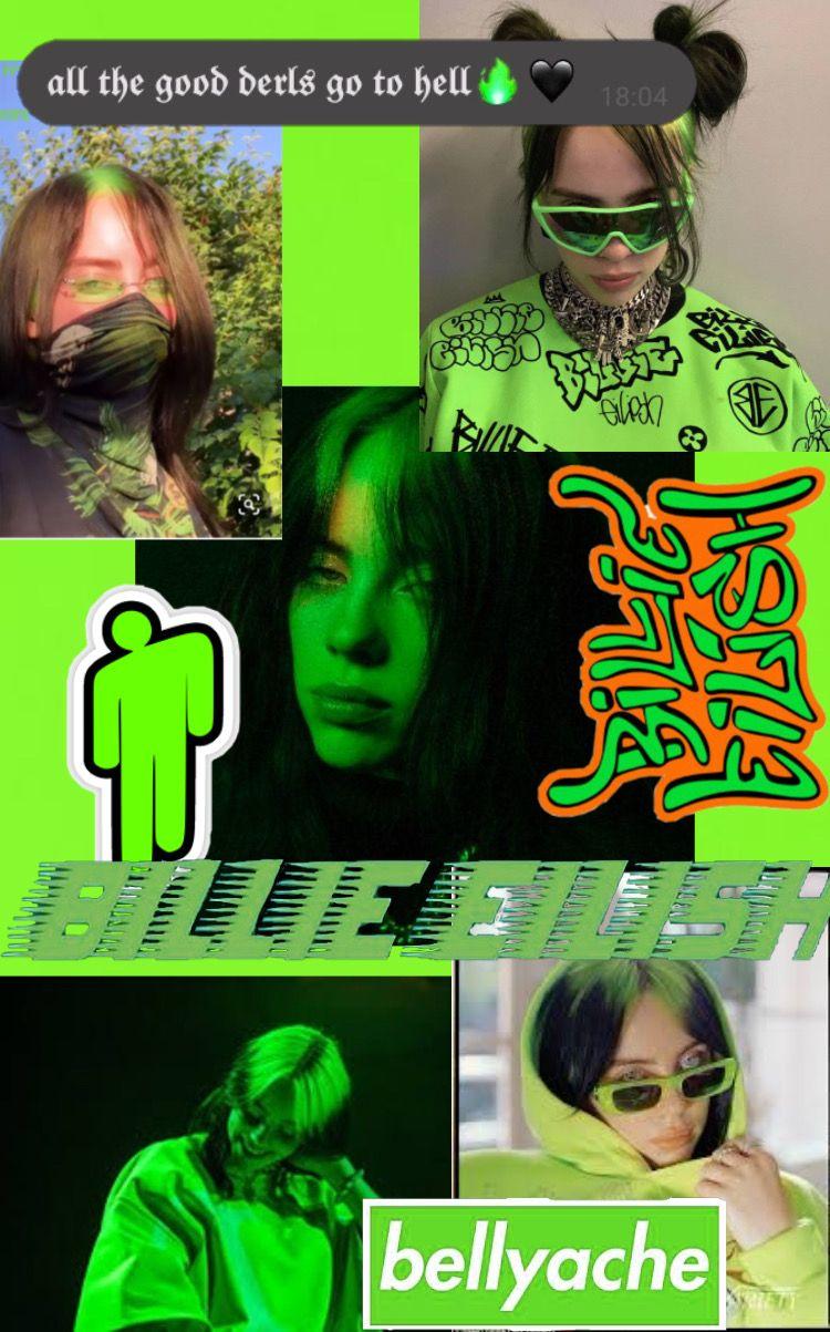 Billie Eilish Green Neon Iphone Ipad Wallpaper Billie Eilish Billie Bright Pictures