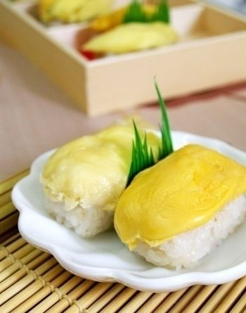 Pulut Durian Sticky Rice With Durian Traditional