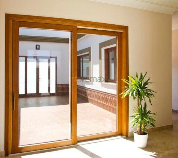 Puerta Corredera Elevadora en Madera Aluminio La Madera de siempre