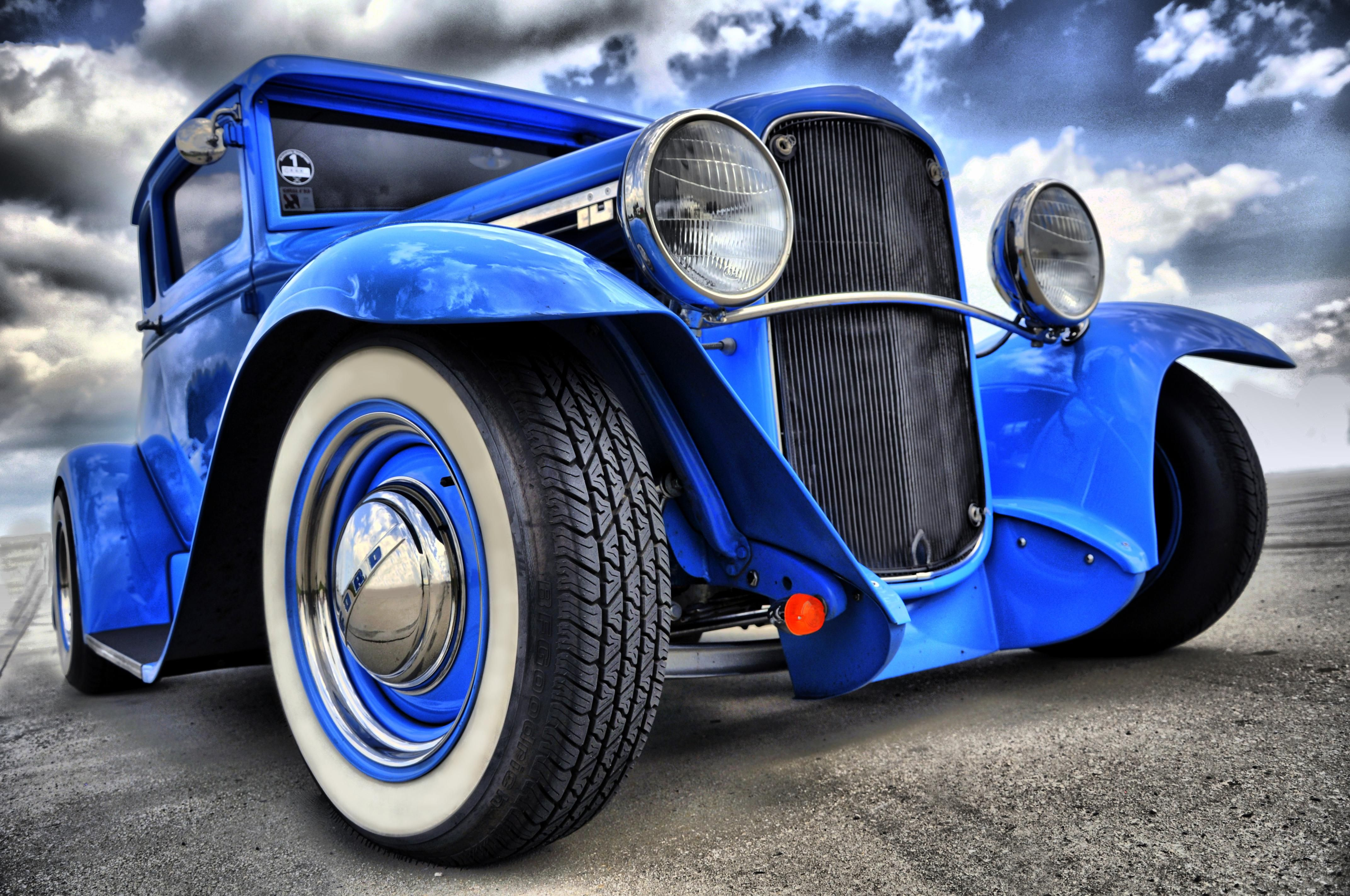 Wallpapers antique car, drawing, car, hot rod, classic car