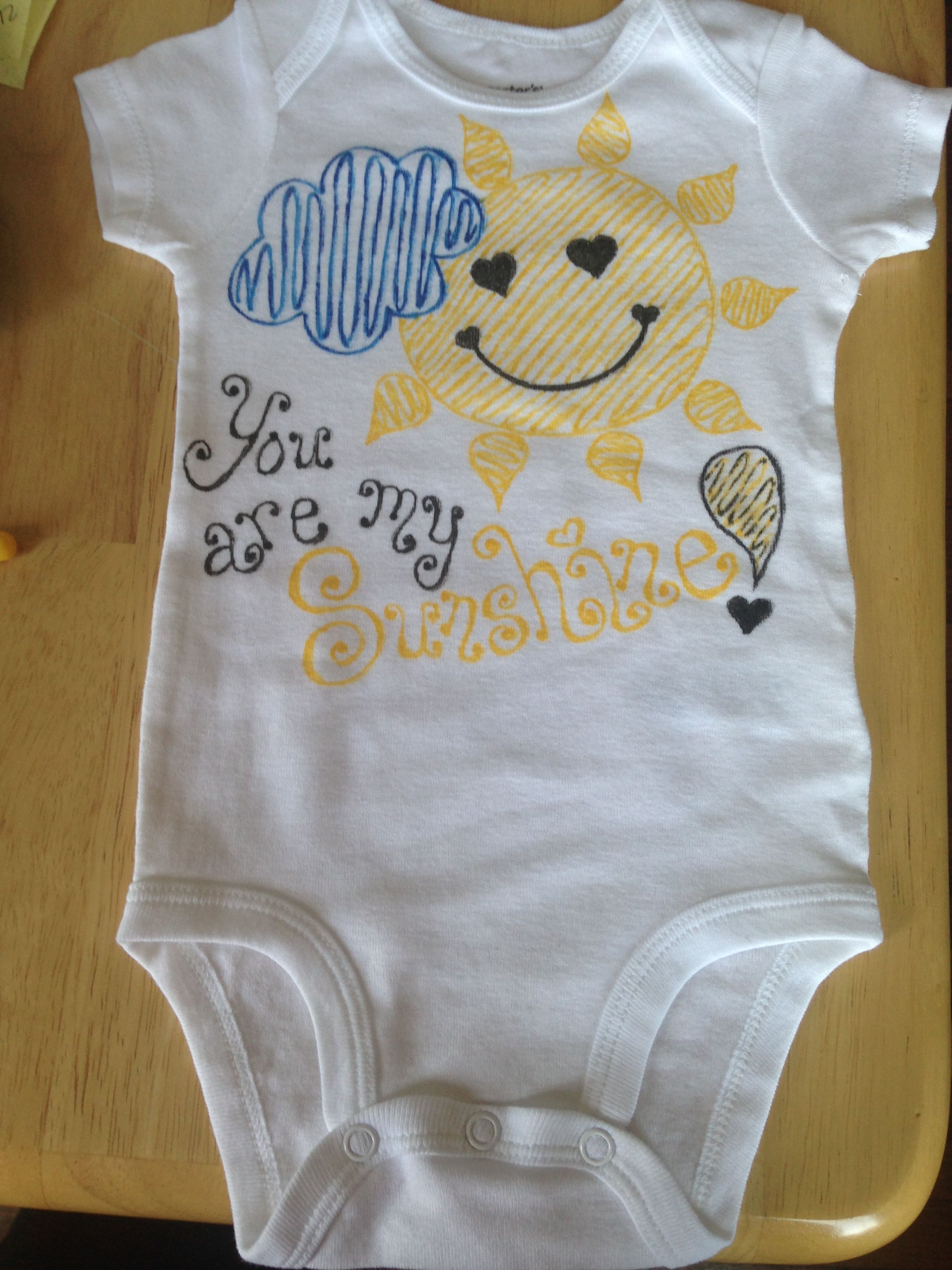 4ab6ecc1d You Are My Sunshine! Carter's 6 Months Onesie | My Handpainted ...