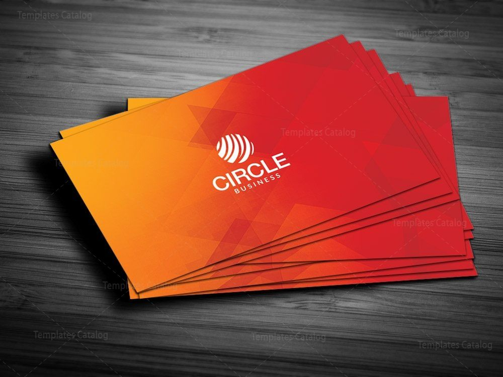 Orange Business Card Template Graphic Templates Modern Business Cards Business Card Template Business Cards Creative