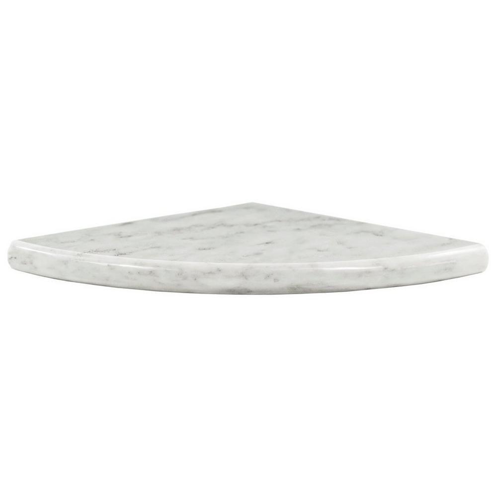 Carrara White Marble Corner Shower Shelf With Images Corner