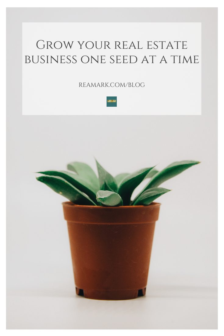 Seed Packets Are Such A Perfect Real Estate Promotional Opportunity For Springtime Real Estate Marketing Tools Real Estate Business Seed Packets