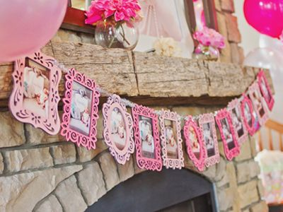 pink ombre girls birthday party idea