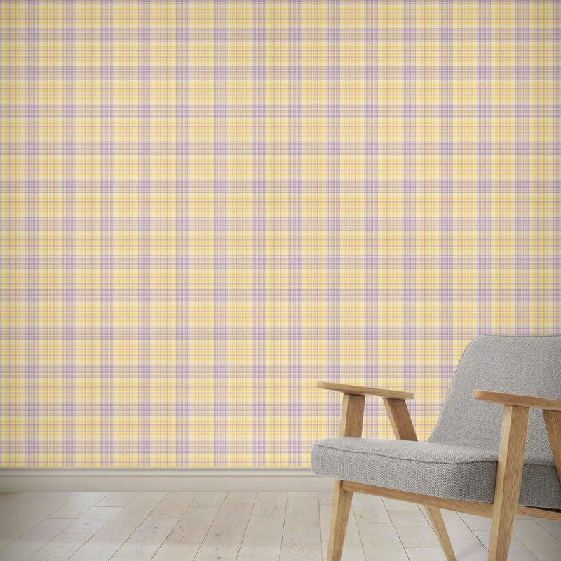 Hinman March Floral Plaid Peel And Stick Wallpaper Panel Wallpaper Panels Peel And Stick Wallpaper Brick Wallpaper