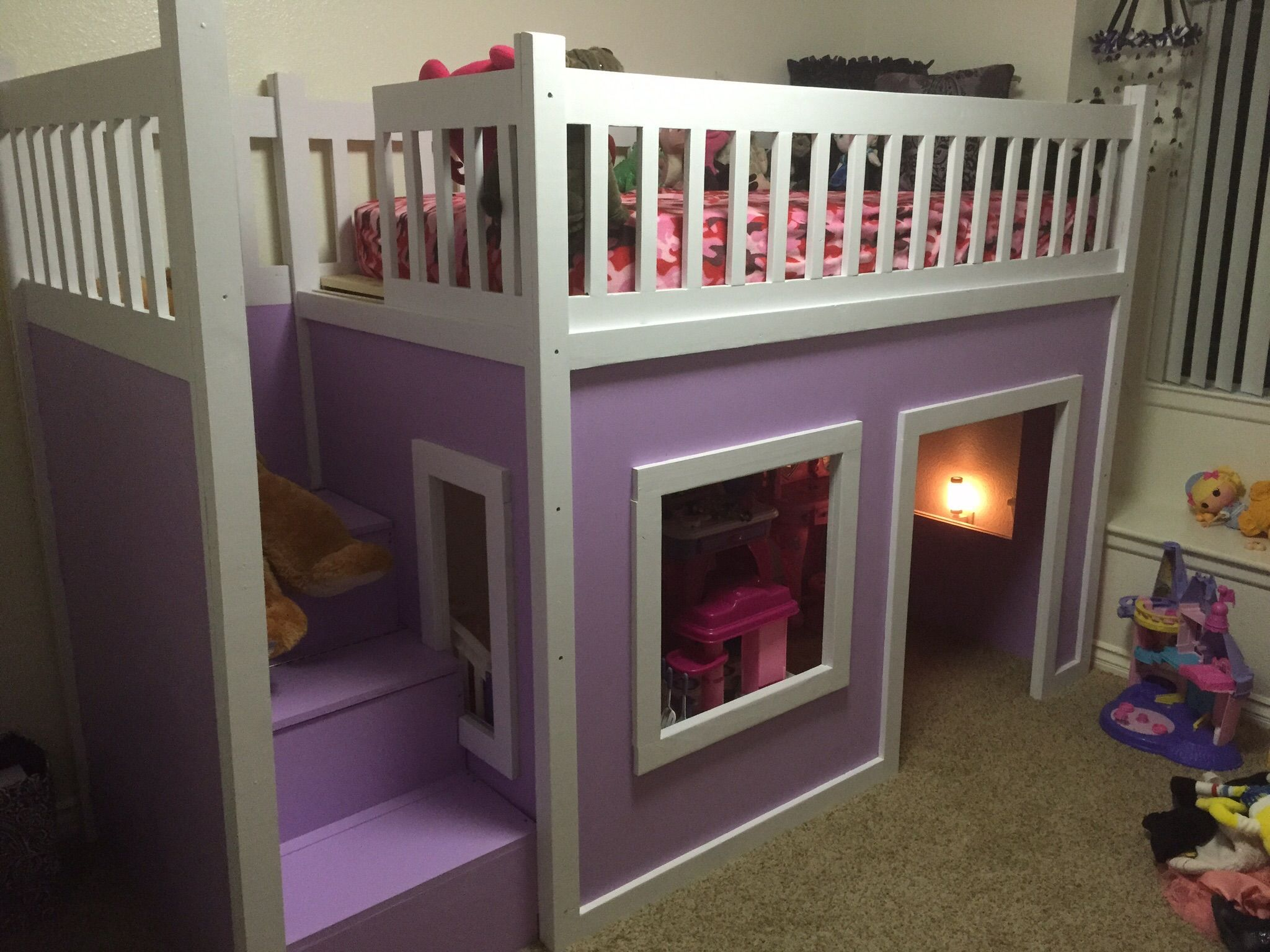 Ana White For my princess! DIY Projects Diy bunk bed