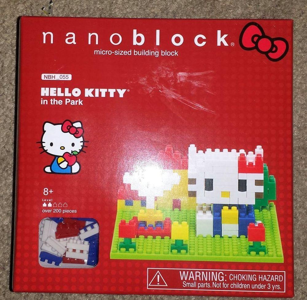 NanoBlock - Hello Kitty In the Park -- 200+ Pieces - New in Box #Kawada