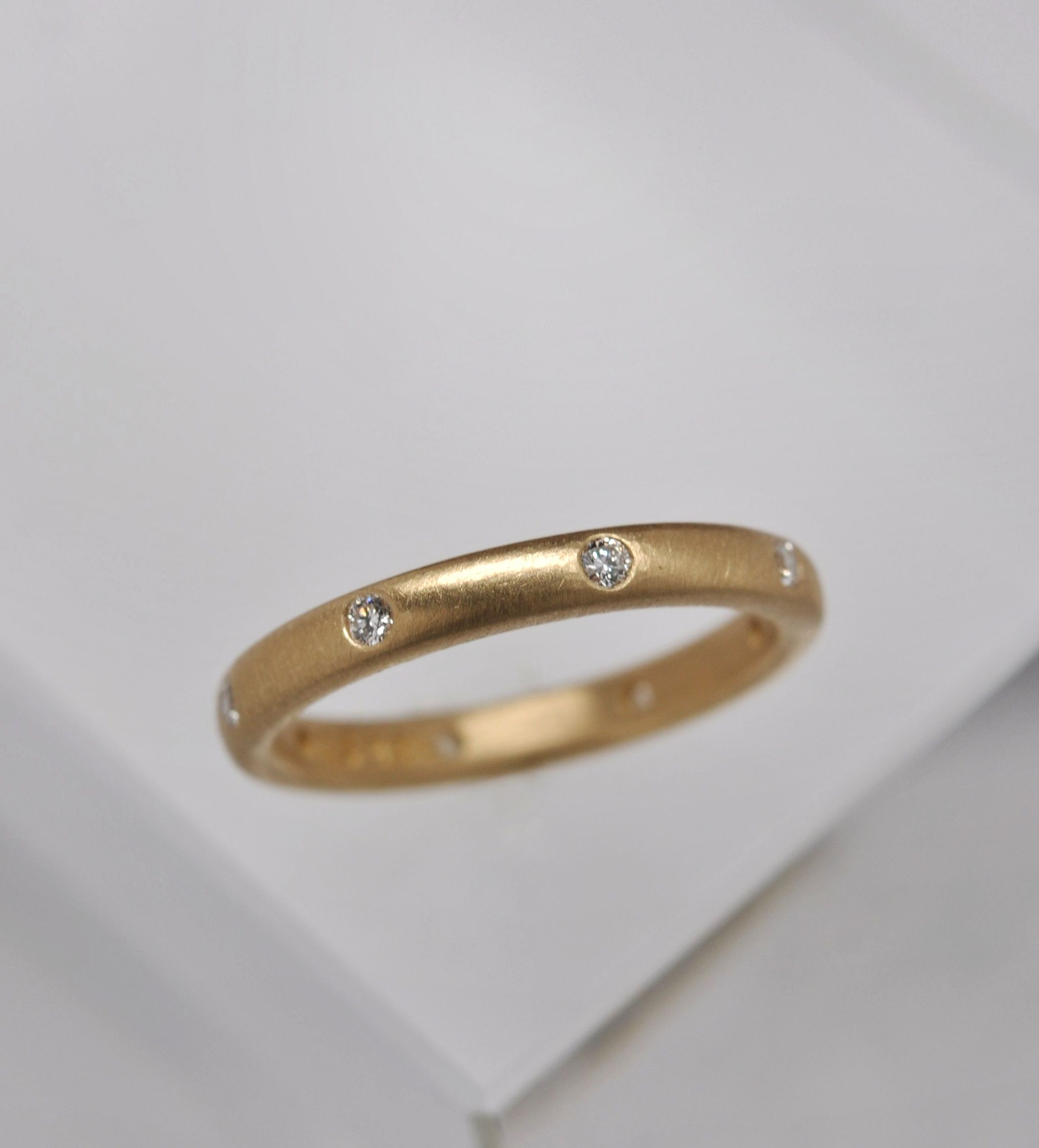 contemporary modern ring or products gold handmade wedding unique eternity and bands diamond