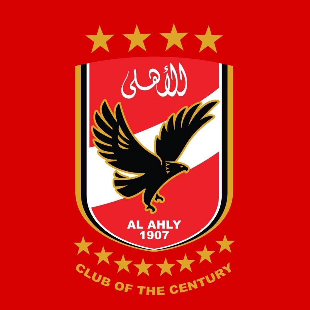 Al Ahly S Crest Logo With 4 Stars On Top 8 On The Bottom Al Ahly Sc Egypt Wallpaper Crest Logo
