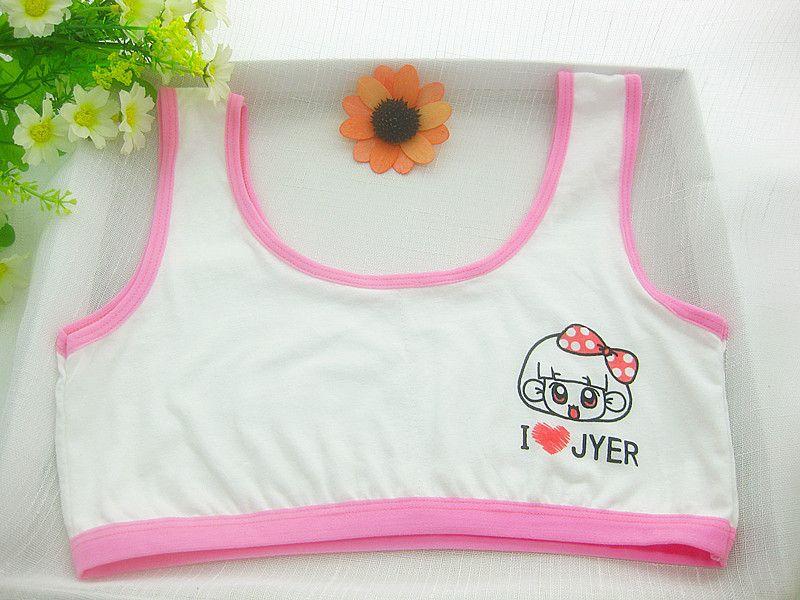 0ec36debd7928 100% cotton young girls training bra 10 14 years old children bras Condole  belt vest kids bra camisole for child -