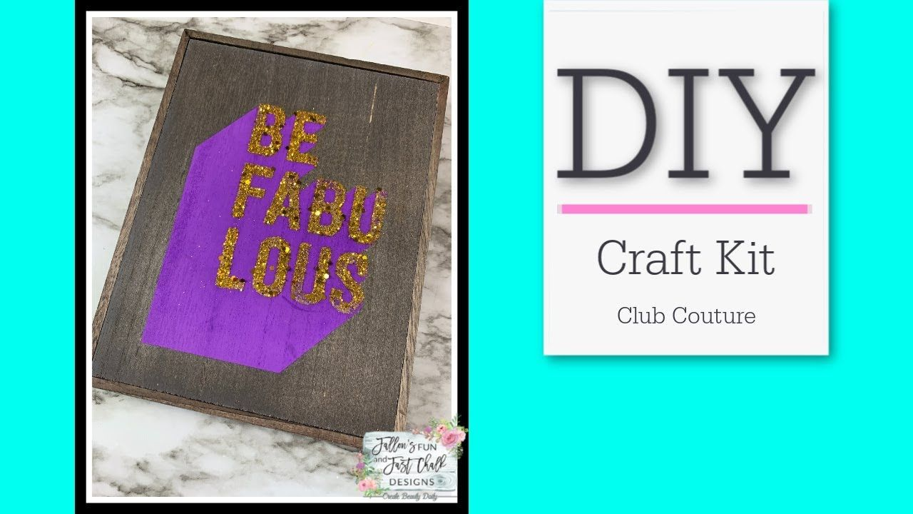 Be Fabulous Box Frame Diy Easy Home Decor Ideas Craft Kit