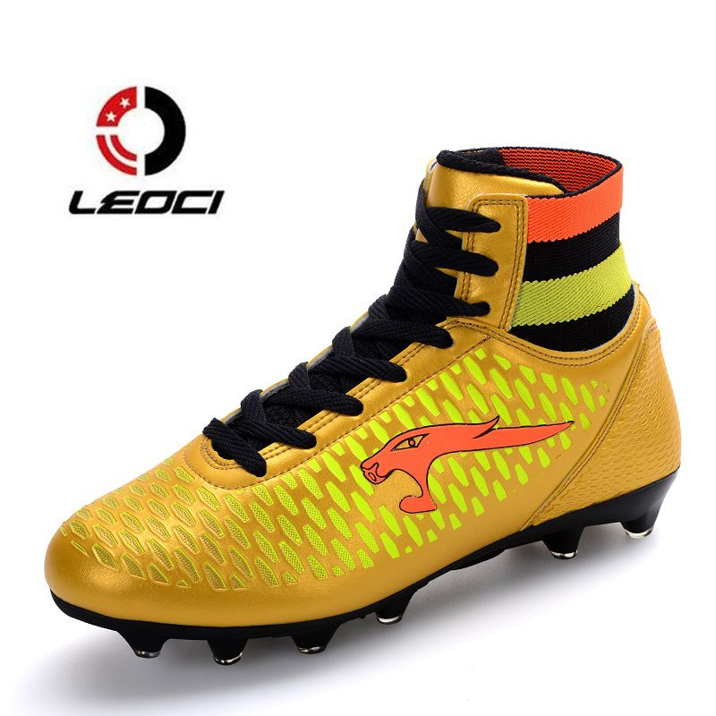 LEOCI High Ankle Soccer Shoes Fly Man Football Shoes Kids Boys New Superfly  Soccer Cleats Boots 34407e4dc60