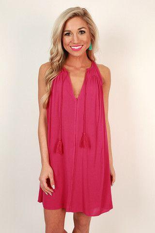 c269b05838a2 Blissful Babe Shift Dress in Raspberry