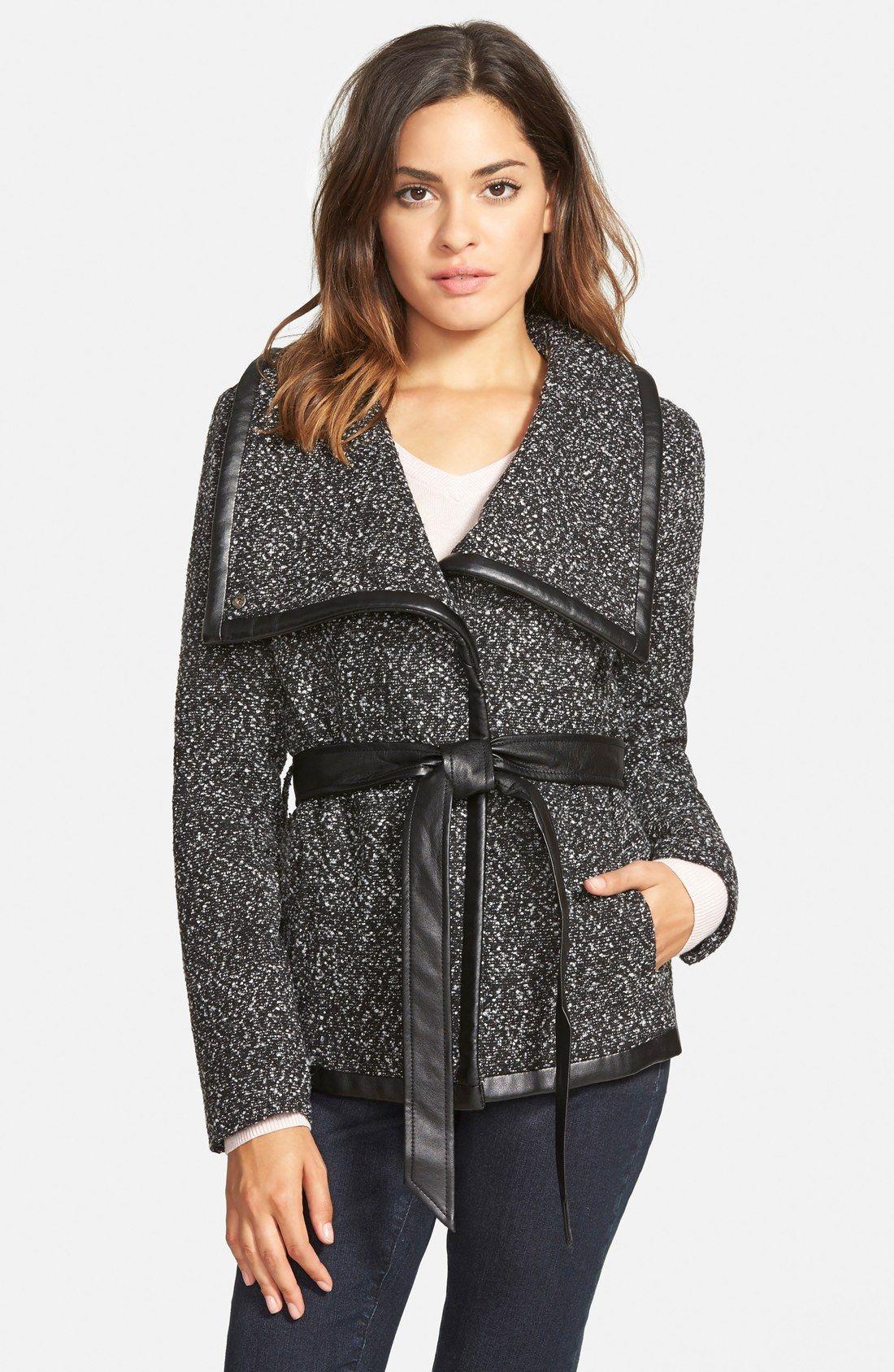Krush Tweed Wrap Coat (Online Only) | Coats/Jackets/Blazers ...