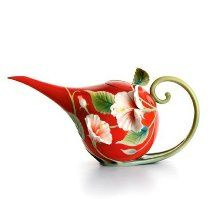 Franz Island Beauty Hibiscus Sculptured Porcelain Teapot - own this one and love it... Cost $79.95  -  please click image for purchase info..I have this in my EBay Store at a very good price for the buyer.