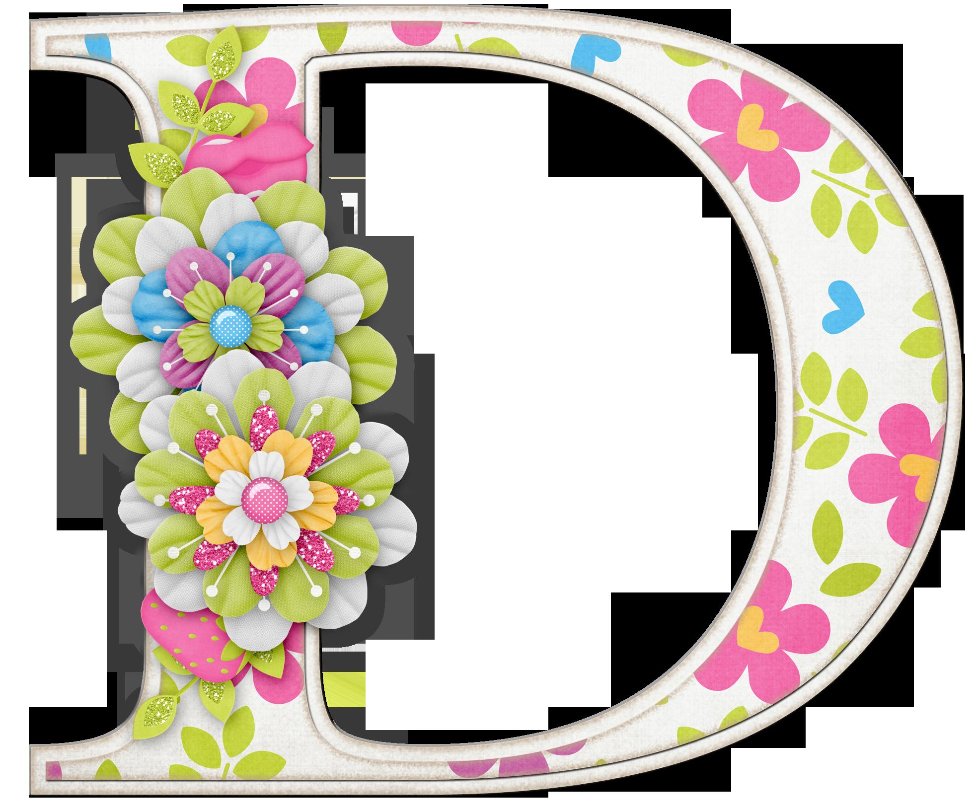 Alfabeto colores y flores d letras pinterest alfabeto flores y letras - Letras decoradas infantiles ...