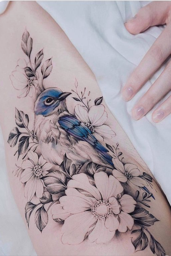 37 Simple And Elegant Rose Tattoos In Watercolor And Bright Colors The First Hand Fashion News For Females In 2020 White Bird Tattoos Red Bird Tattoos Tattoos