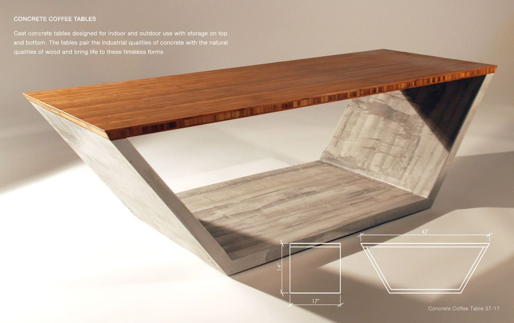 Concrete Coffee Tables You Can Buy Or Build Yourself