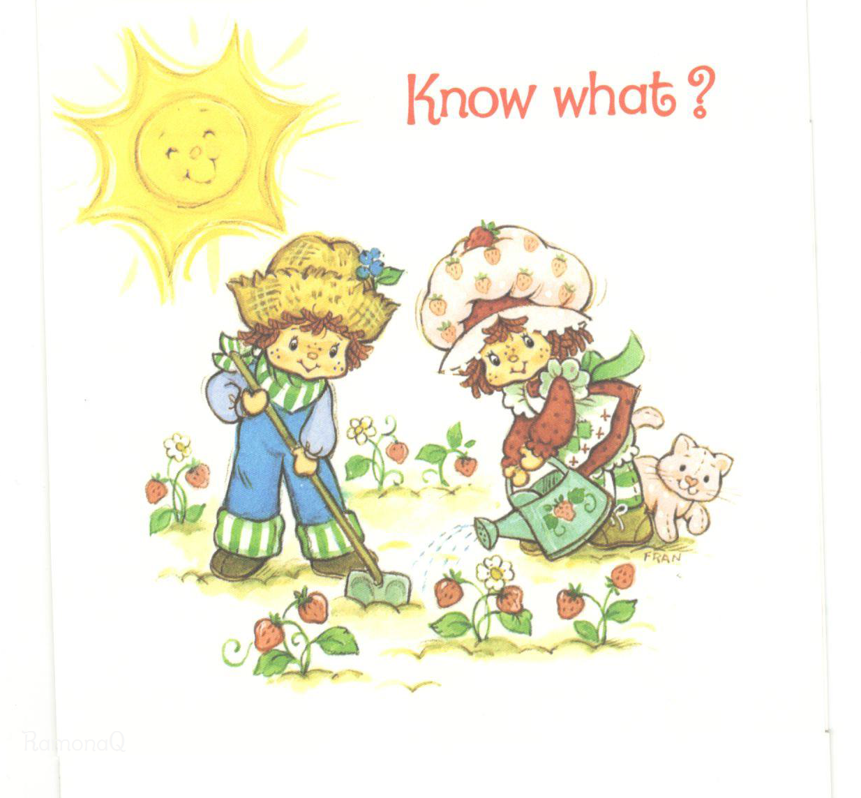 Vintage kenner american greetings strawberry shortcake greeting vintage kenner american greetings strawberry shortcake greeting card strawberry shortcake huckleberry pie gardening m4hsunfo Gallery