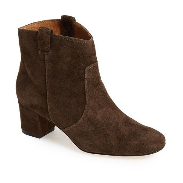 Women's Bettye Muller 'Cruiser' Suede Ankle Boot (187 CAD) ❤ liked on Polyvore featuring shoes, boots, ankle booties, short western boots, suede booties, short cowgirl boots, suede ankle booties and ankle boots