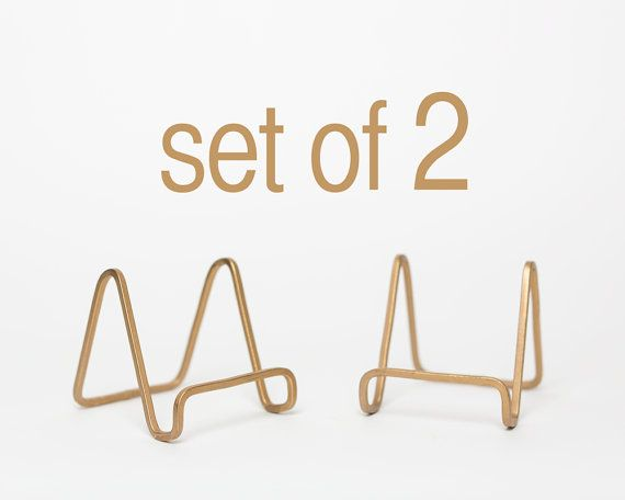 Wedding Table Number Stands Gold Easels Set Of 2 Photo Holder Stand