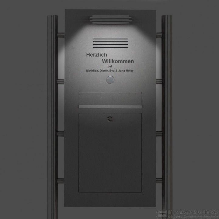 Edelstahl Designer Standbriefkasten Klingel-Gegensprech LED ...