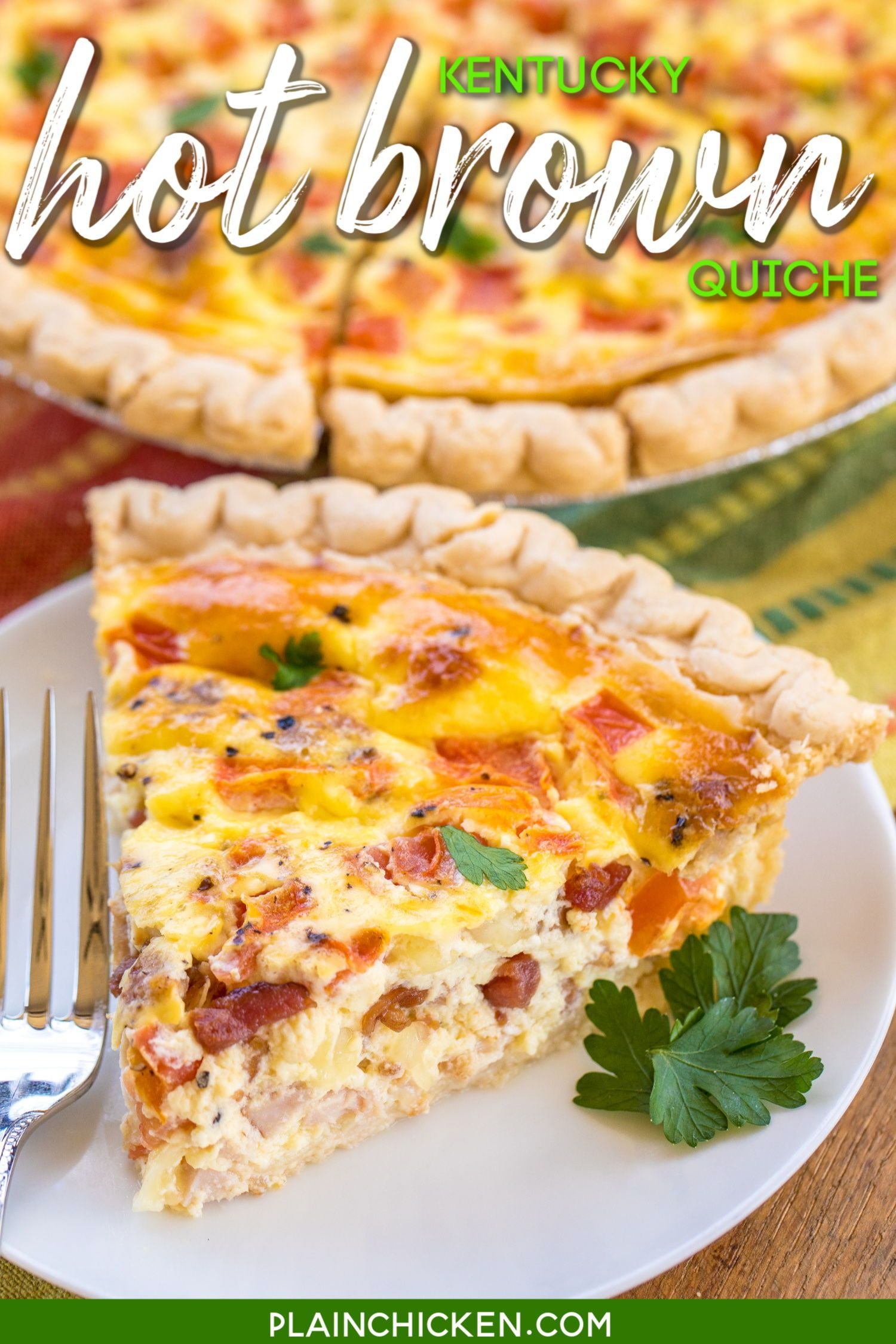 Kentucky Hot Brown Quiche In 2020 Breakfast Brunch Recipes Quiche Recipes Breakfast Brunch