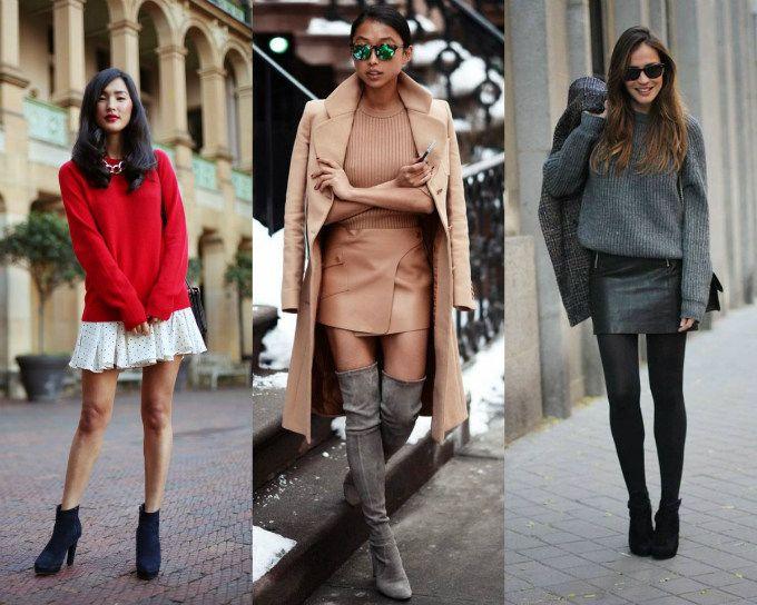 Não, você não precisa abandonar suas roupas de verão no inverno. E seus looks de frio podem ficar incríveis com elas, é só compor com as peças certas. Então, sabe aquelas minissaias que você já estava guardando no fundo do